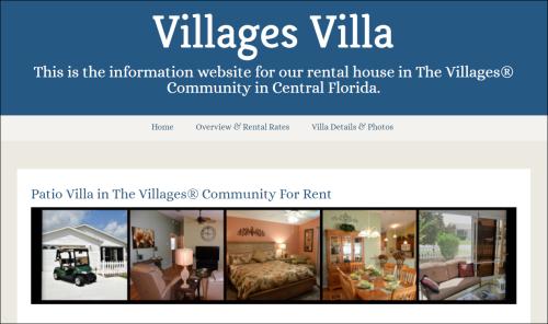 Villages Villa Website
