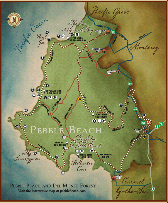 17-Mile-Drive Map