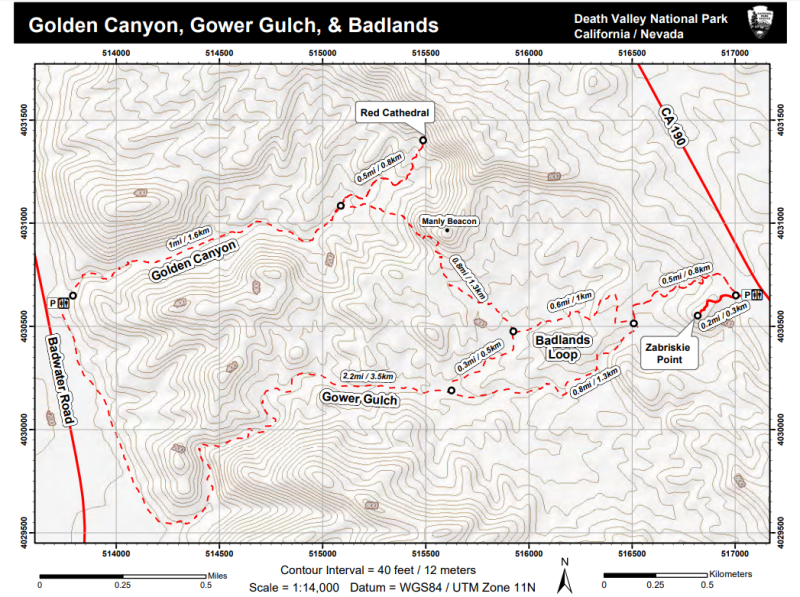 Gold Canyon Gower Gulch Badlands Loop Map