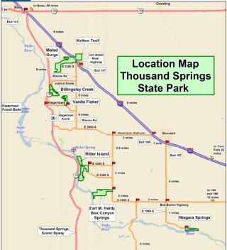 Thousand Springs SP Unit Map
