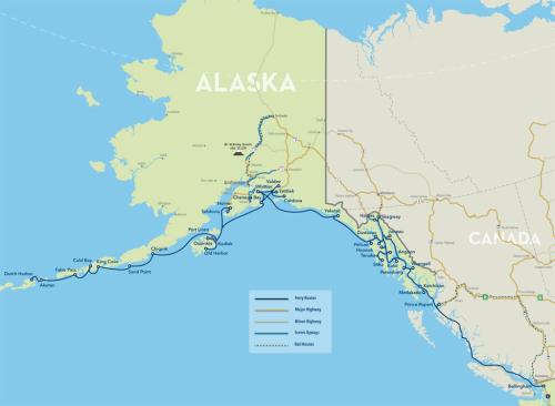 Alaska Ferry Ports
