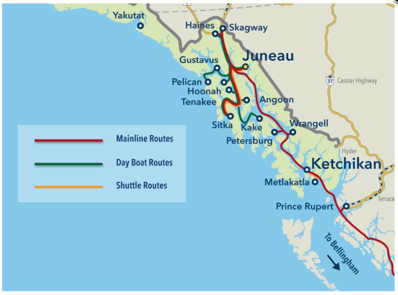 Alaska Ferry Inside Passage Routes