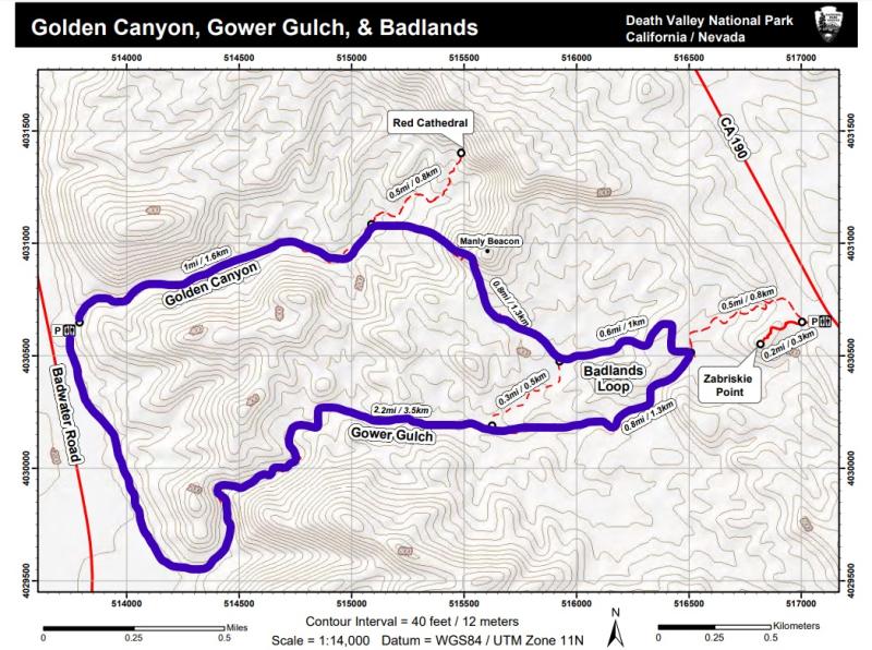 Gold Canyon Gower Gulch Badlands Loop Map_LI