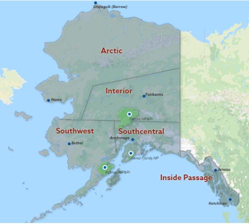 Alaska Map Regions
