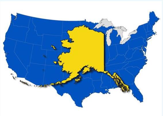 Alaska Size